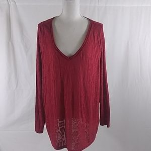 Red Plus Size Top 22/24W